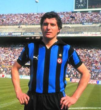 Giancarlo Pasinato a San Siro in maglia nerazzurra